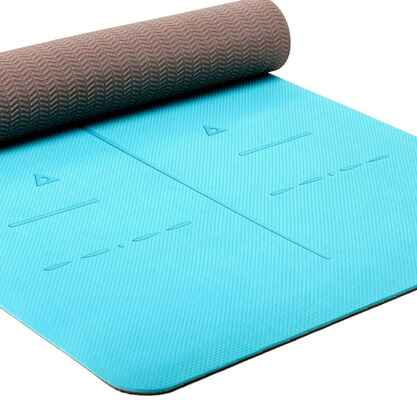 #1. Healthyyoga Thickness ¼'' Non-Slip Surface SGS Certified TPE Eco-Friendly Non-Slip Yoga Mat