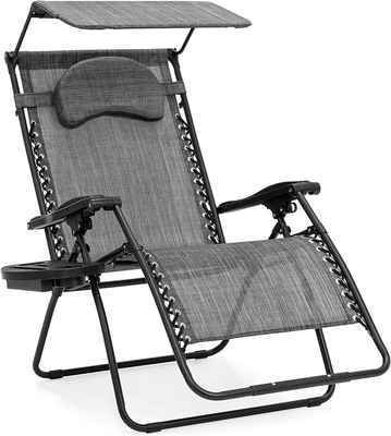 #3. Best Choice Durable Zero Gravity Over-sized Seating Mesh Recliner Lounge Chair (Grey)