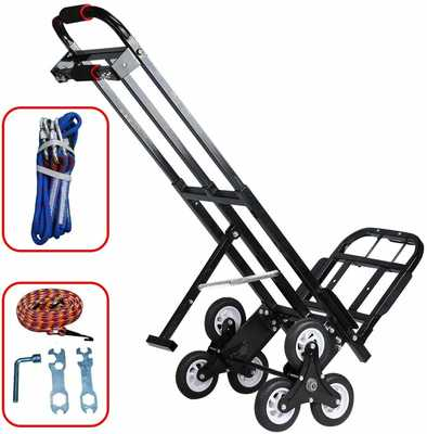 #3. Macete Portable 460lb Capacity All-Terrain Heavy Duty 6 Wheels Stair Climbing Hand Truck