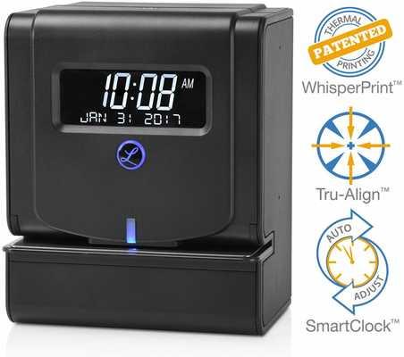 #2. Lathem Heavy-Duty 2100HD Large LCD Maintenance-free Thermal Print Time Clock