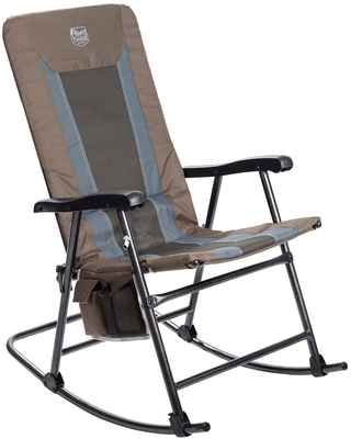 #10. Timber Ridge Lightweight Smooth Glide Padded Folding Rocking Chair for Outdoor