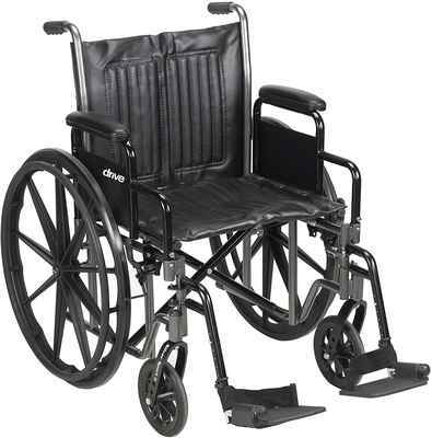#7. McKesson 62164201 350lbs Capacity Swing-Away Footrests 20'' Standard Wheelchair w/Footrest