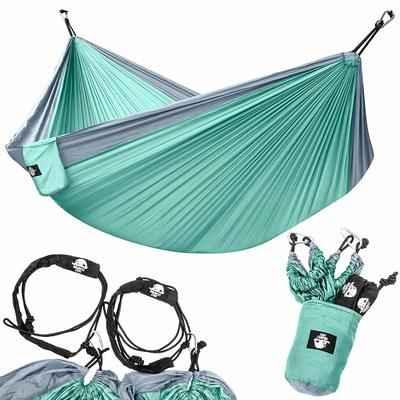 4. Legit Camping Lightweight Parachute Portable Double Camping Hammock with Nylon Straps