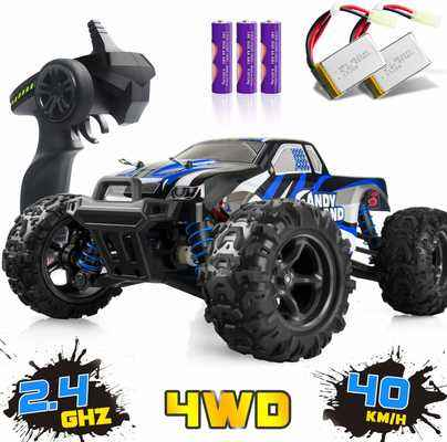 #2. IMDEN 1:18 Scale 2.4 GHz Radio 2 Rechargeable Batteries 4WD Terrain Remote Control Truck