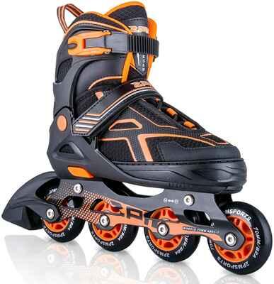 #6. 2PM SPORTS Torinx Adjustable Inline Skates (Orange/Red/Green/Black)