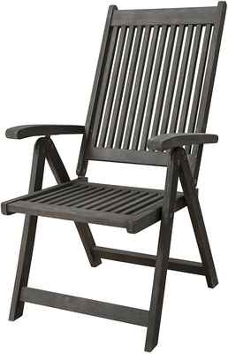 #4. Vifah Hand-Scraped Wood 5-Position Renaissance Outdoor Patio Reclining Chair