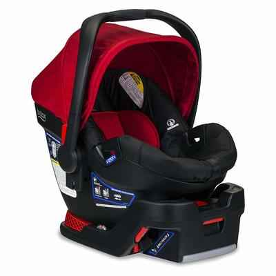 8. BRITAX 4 TO 35 Pounds 1-Layer Impact Protection B-Safe Infant Car Seat & Stroller- Cardinal