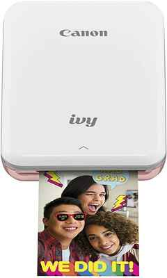 #5. Canon IVY Super-Portable Bluetooth-Enabled Mobile Mini Portable Printer (Rose Gold)