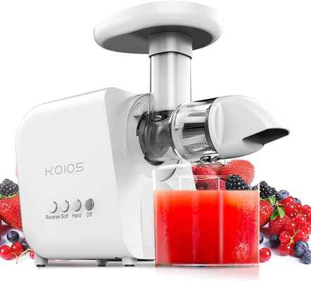 #5. KOIOS Cold Press Juicer Machine w/Quiet Motor Slow Juice Extractor w/Reverse Function