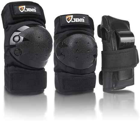#2. JBM 3-in-1 Adult/Child Elbow Pads Knee Pads & Wrist Guards Multi-Sports Cycling, Biking & Skating