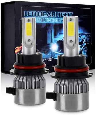 #8. ECCPP Pack of 2 80W 6000K 10400 Lumen Beam White Fog Light 9007 LED Headlight Bulb Kit