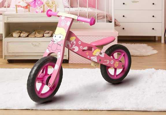 #5. Iondon-kate Deluxe Wooden Girls Push Training Running Bike for Toddlers & Kids