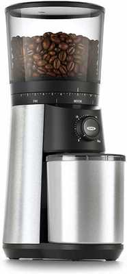 #2. OXO Brew 15 Settings Start Timer Durable Stainless Steel Conical Burr Coffee Grinder