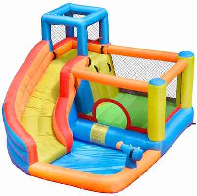 #8. Doctor Dolphin House Jumper Park Combo Inflatable Bounce Slide for Kids Outdoor Party