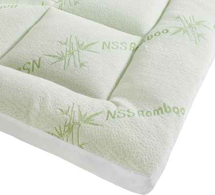 #10. Niagara 2'' Gusset Quilted Fitted Skirt Down Alternative Sleep Solution Bamboo Mattress Topper