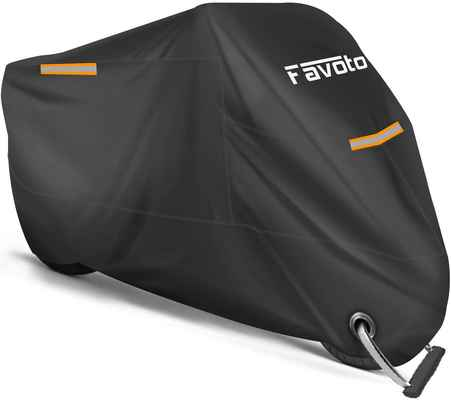 #2. Favoto Premium Quality Waterproof All Season Sun Outdoor Protection Motorcycles Cover