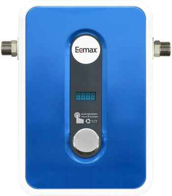 #5. Eemax Self-Modulating Tech Instant & Consistent Tankless Electric Water Heater (Blue)