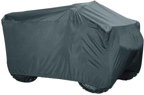 #8. PrimeShield Heavy-Duty Waterproof Large Quad ATV Motorcycle Cover (Black)