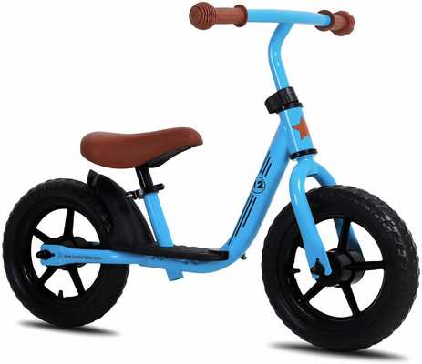 #1. JOYSTAR 10/12''Footrest EVA Polymer Foam Tire Balance Bike for Kids Multiple Colors