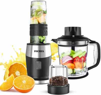 #6. FOCHEA High-Speed 700W 5-in-1 BPA-Free Personal Blender for Smoothies & Shakes