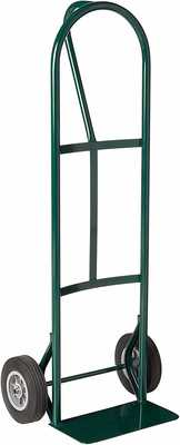 #1. Harper BKB85 600lbs P-Handle Solid Rubber Wheel 48'' Height Folding Hand Truck (Green)