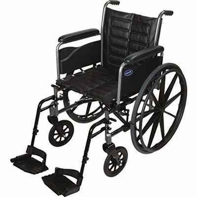 #3. INVACARE 20'' Seat Ex2 T93HCP Full-Length 	Arm Tracer Wheelchair w/Heel Loops