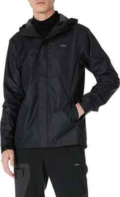 #5. 5Oaks Packable Lightweight Waterproof Classic Regular Fit Men's Hooded Raincoat