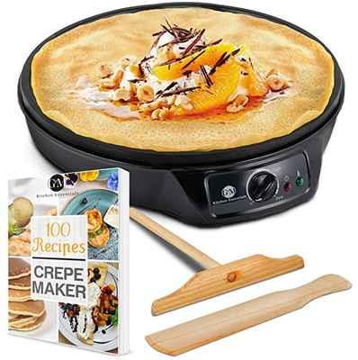 #5. G&M 12'' Non-Stick Crepe Maker Machine Electric Pancake Griddle for Tortilla, Blintzes & Roti
