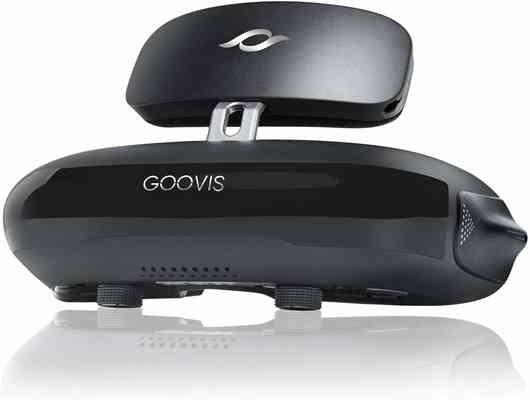 #9. GOOVIS G2 3D 4K Blu-ray Player Cinema VR Headset Theater Goggles for Gaming (Black)
