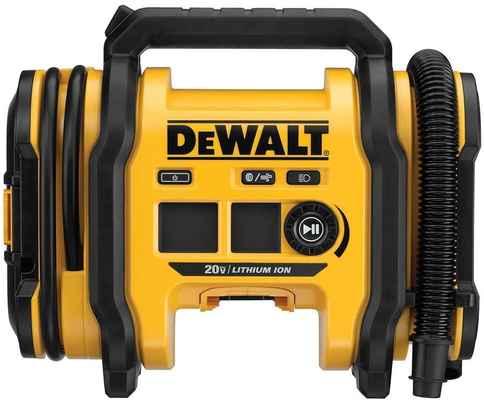 #2. DEWALT 20V DCC020IB Three Power Sources LED Light 110V Max Cordless Tire Inflator