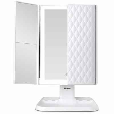 #9. AirExpect 72 LED Trifold Mirror Touch Control Makeup Mirror Vanity Mirror w/Lights