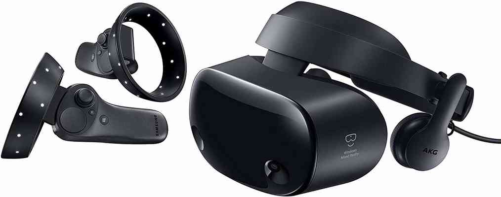 #4. Samsung HDM Odyssey 2 Wireless Controllers 3.5'' Windows Mixed Reality Headset (Black)