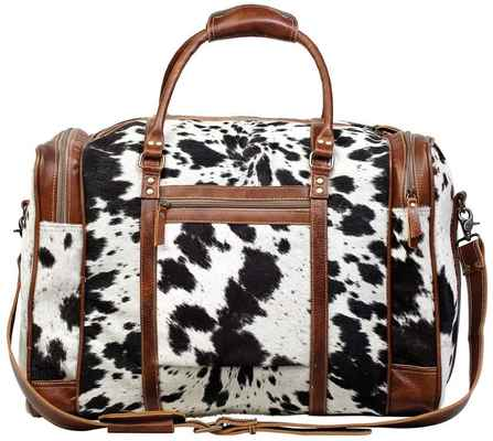 #2. Myra Bag S-1124 Shoulder Strap Large Bag Grand Cowhide Leather Travel Bag