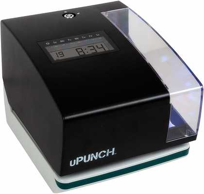 #3. uPunch CR1000 Digital 1 Ribbon 50 Time Cards & 2 Keys Time Clock & Date Stamp