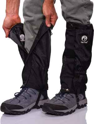 #9. Pike Trail Adjustable & Waterproof Snow Boot Leg Snake Gaiters for Hiking Hunting Walking