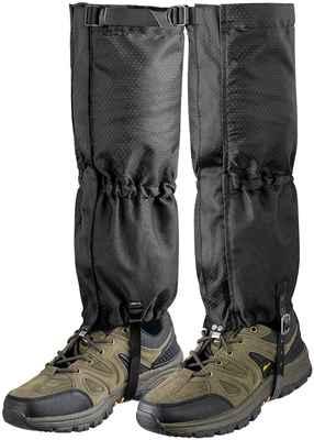 #10. Unigear Waterproof Zipper Snake Gaiters for Ice Climbing, Boot Leg Gaiters for Men & Women