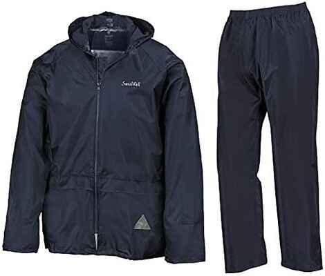 #2. SWISSWELL Jacket & Trouser Suit Lightweight Waterproof Hooded Men's Rain Suit