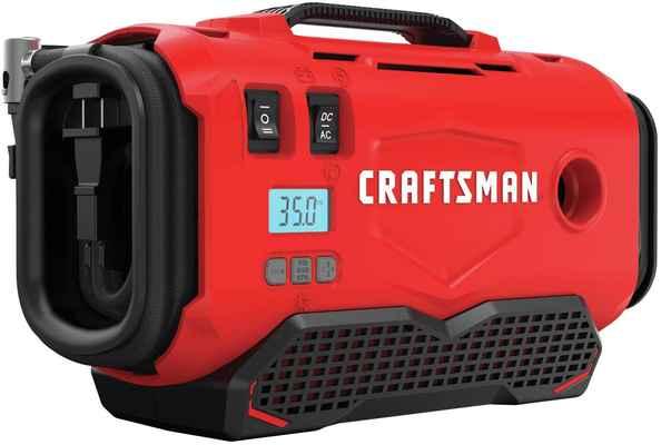 #5. CRAFTSMAN CMCE520B Red V20 Inflator Tool Only 3-Power Source w/Digital PSI Gauge