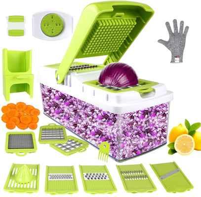 #8. ONSON 10-in-1 Veggie Slicer Manual Mandoline Vegetable Chopper Cutter Onion Slicer Dicer