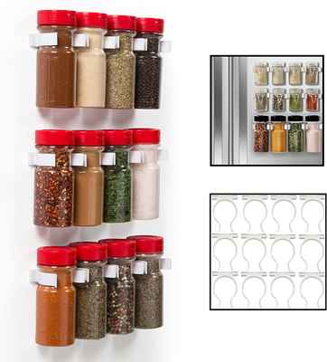 #9. Good Cooking Easily Organize & Reorganize Dispensers Magnetic Spice Rack Gripper Clips