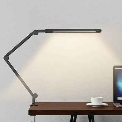 #7. JOLY JOY Black Eye-Care Dimmable Light 6 Color Modes Swing Arm LED Desk Lamp