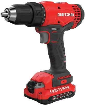 #10. Craftsman CMCD701C2 Compatible 20V Max ½'' Versatile Cordless Drill Home Driver Kit