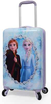 #5. Disney 20'' Carry-On Travel Frozen II Anna HardSide Spinner Rolling Luggage for Kids