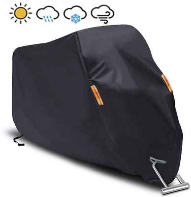 #9. SEAZEN 5 Layer Breathable Fabric Waterproof UV Protection Motorcycle Cover