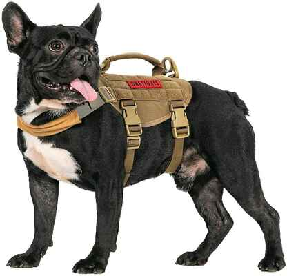 #9. OneTigris Puppy Harness Military Vest Easy Control Tactical Dog Harness w/Handle for Training & Walking