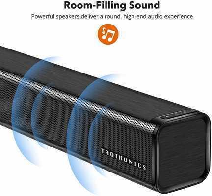 #8. TaoTronics 32'' Wired & Wireless Bluetooth 3 Equalizer Mode Audio Speaker 4.2 Stereo Soundbar
