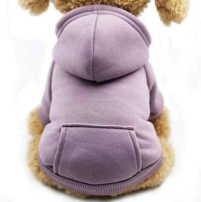 #8 Fashion Focus On Cotton Warm Dog Clothes Hoodie Sweatshirts Winter Dog w/Pockets