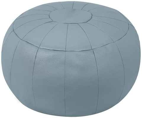 #7. ROTOT Decorative Pouf Cover Bean Bag Chair FootRest Storage Solution Footstool (Light Grey)
