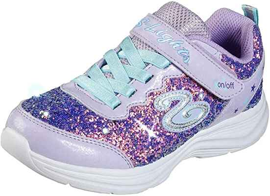 #6. Sketchers Synesthetic Sole Flexible & Lightweight Kids' Unisex Glimmer Kicks Sneaker