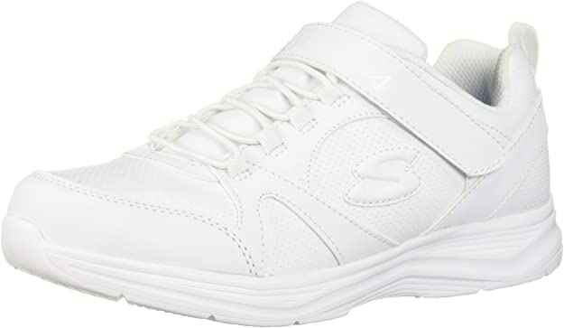 #8. Sketchers Lightweight Synthetic Sole Non-Marking Outsole Kid's Glimmer Kicks Sneaker